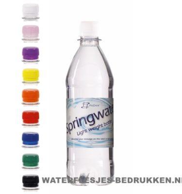 Waterflesje bedrukken 500 ml platte dop goedkope