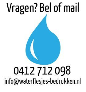 waterflesjes bedrukken contact, bedrukte waterflesjes, waterflessen bedrukt