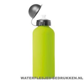 Bidon Alu Color bedrukken lime groen, bidon goedkoop bedrukken