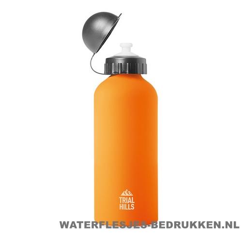 Bidon Alu Color bedrukken oranje, bidon goedkoop bedrukken