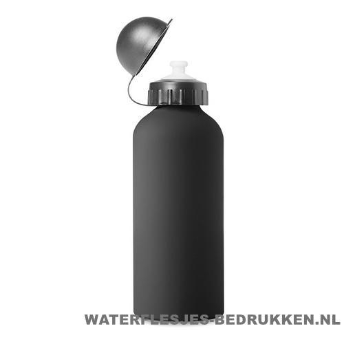 Bidon Alu Color bedrukken zwart, bidon goedkoop bedrukken