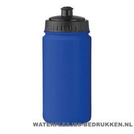 Bidon Sport bedrukken blauw, bidon goedkoop bedrukken