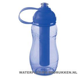 Drinkfles goedkoop bedrukken blauw, bidon goedkoop bedrukken