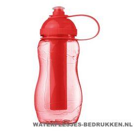 Drinkfles goedkoop bedrukken rood, bidon goedkoop bedrukken