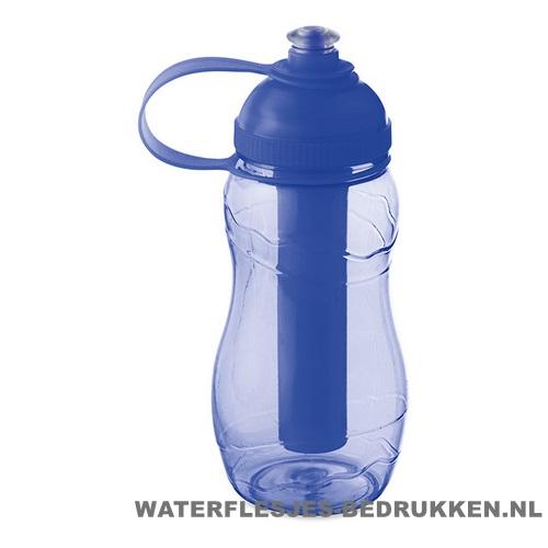 Drinkfles goedkoop bedrukt blauw, bidon goedkoop bedrukken