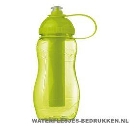 Drinkfles goedkoop bedrukt groen, bidon goedkoop bedrukken