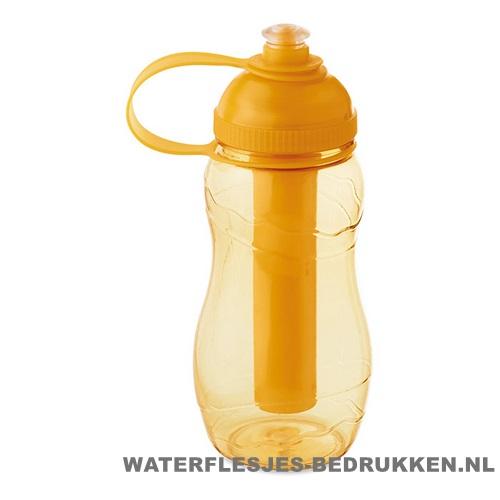 Drinkfles goedkoop bedrukt oranje, bidon goedkoop bedrukken