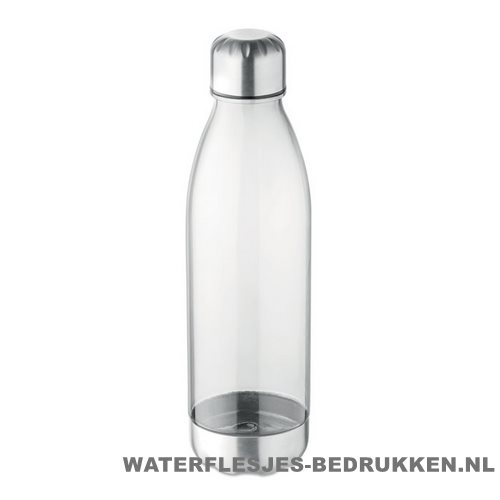 Drinkfles tritan 600ml bedrukken transparant wit