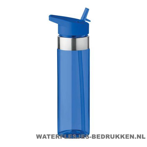 Drinkfles tritan 650ml bedrukken blauw, bidon bedrukken