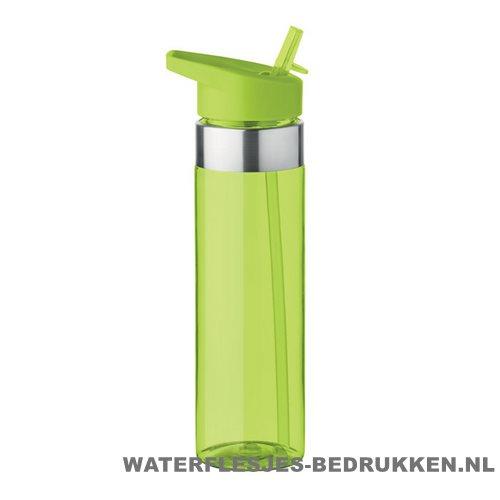 Drinkfles tritan 650ml bedrukken groen, bidon bedrukken