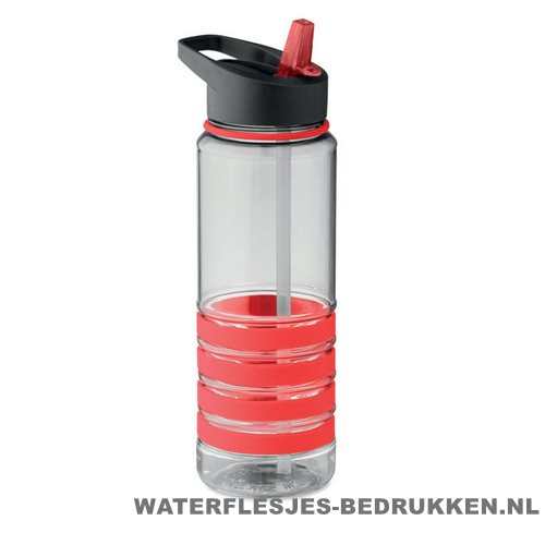Drinkfles tritan 750ml bedrukken rood, bidon goedkoop bedrukken