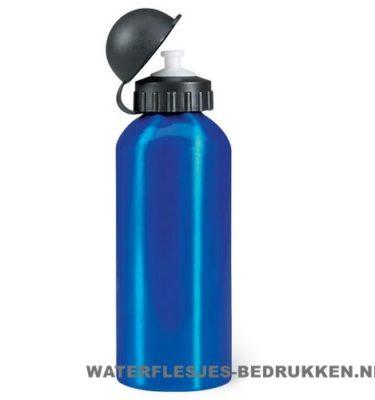 Reisbeker bidon 600ml bedrukken blauw, bidon goedkoop bedrukken
