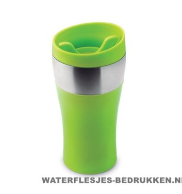 Thermosbeker RVS PP 350ml bedrukken groen