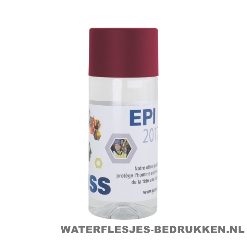 Waterfles Cap'leau 330ml bedrukken bordeaux