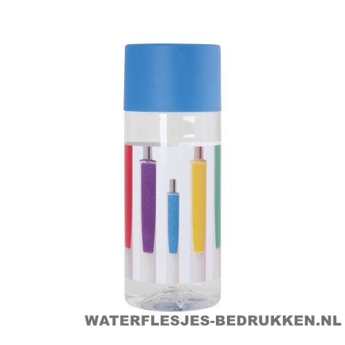 Waterfles Cap'leau 330ml bedrukken cyaan