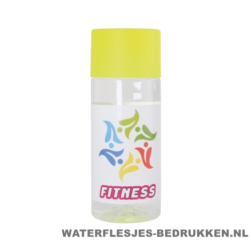 Waterfles Cap'leau 330ml bedrukken geel