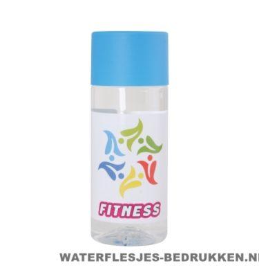Waterfles Cap'leau 330ml bedrukken lichtblauw