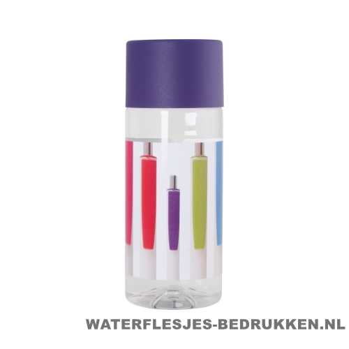 Waterfles Cap'leau 330ml bedrukken paars
