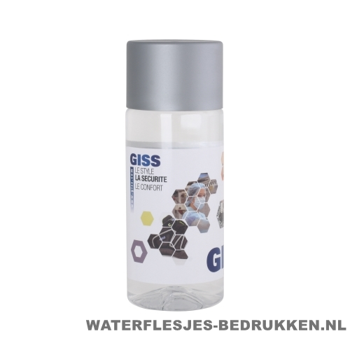 Waterfles Cap'leau 330ml bedrukken zilver