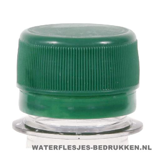 Waterfles bedrukken platte groene dop