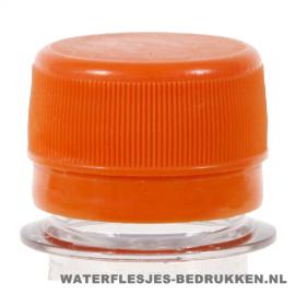 Waterfles bedrukken platte oranje dop
