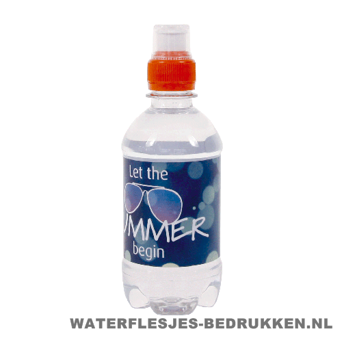 Waterfles bedrukken rond 330ml sportdop vb