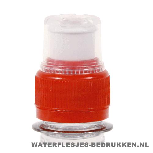 Waterfles bedrukken sportdop rood, goedkope waterfles