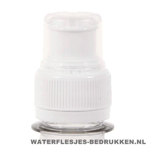 Waterfles bedrukken sportdop wit, goedkope waterfles