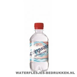 Waterflesje bedrukken 330 ml platte dop rood