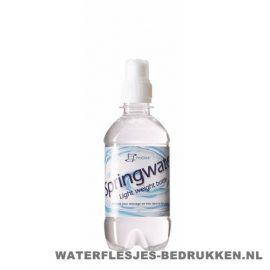 Waterflesje bedrukken 330 ml sportdop wit
