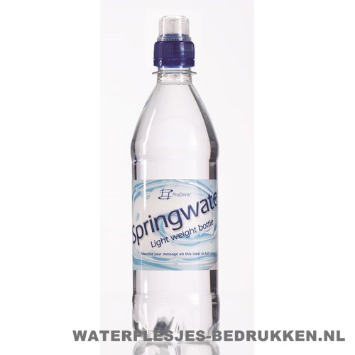 Waterflesje bedrukken 500 ml sportdop