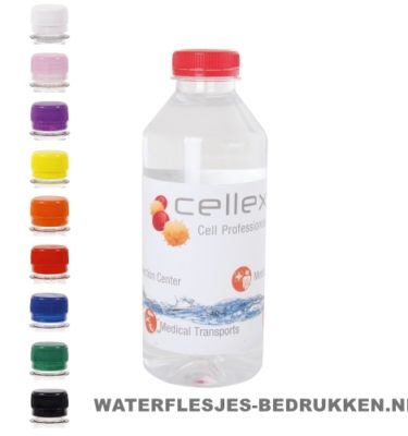 Waterflesjes bedrukken 330 ml platte dop goedkoop bestellen