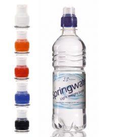 Waterflessen bedrukken geribbeld 500 ml sportdop goedkoop bestellen