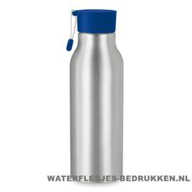 Aluminium drinkfles bedrukken blauwe