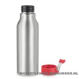 Aluminium drinkfles bedrukken rood