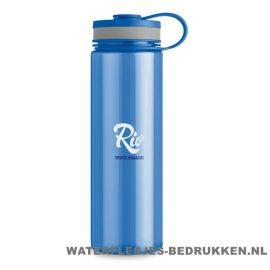 Bidon XL bedrukt met logo blauw