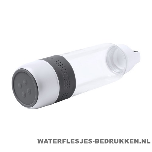 Bidon bluetooth speaker 600ml bedrukken grijs