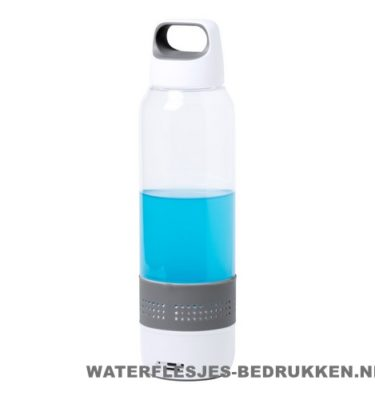 Bidon bluetooth speaker 600ml bedrukken opvallend