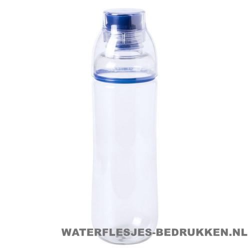Bidon drinktuit 750ml bedrukt blauw