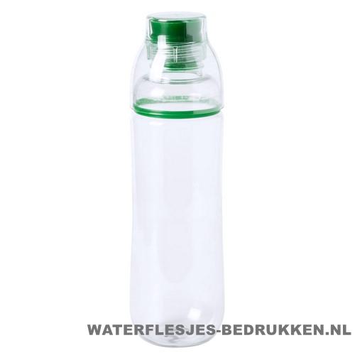 Bidon drinktuit 750ml bedrukt groen