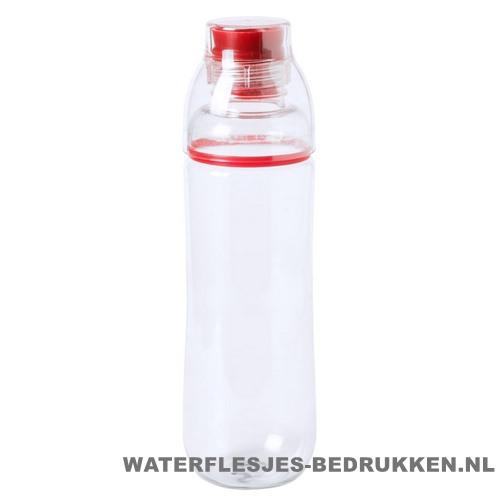 Bidon drinktuit 750ml bedrukt rood