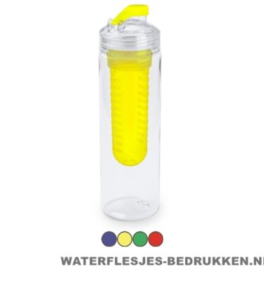 Bidon fruit filter 700ml bedrukt compartiment goedkoop
