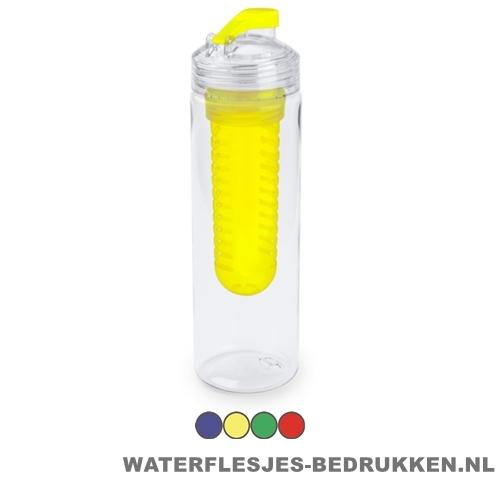 Bidon fruit filter 700ml bedrukt compartiment goedkoop