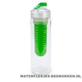Bidon fruit filter 700ml bedrukt groen