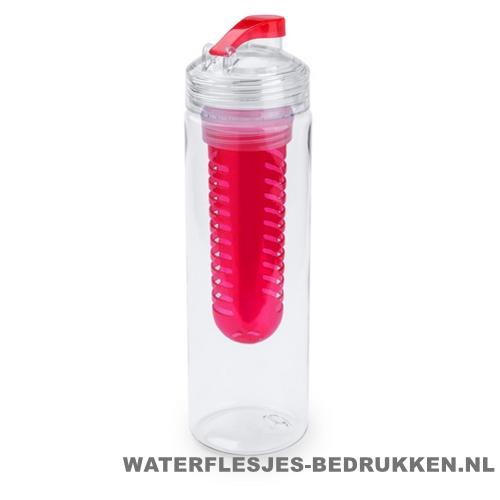 Bidon fruit filter 700ml bedrukt rood