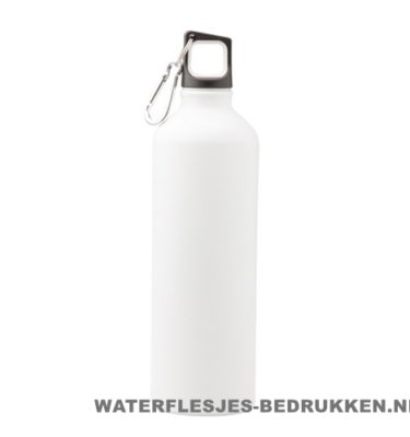 Bidon mat 750ml bedrukt wit