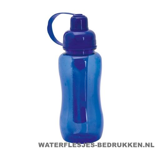 Bidon met koelvriespunt 600ml bedrukt blauw