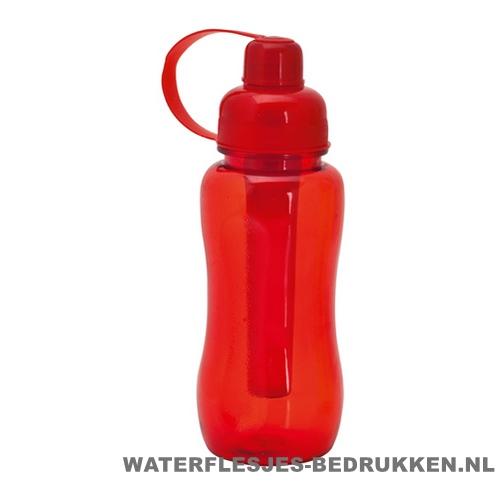 Bidon met koelvriespunt 600ml bedrukt rood