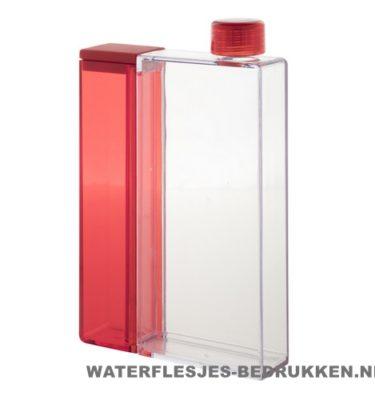 Bidon rechthoek duo waterfles bedrukken rood