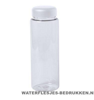Bidon simpel 550ml bedrukt witte dop